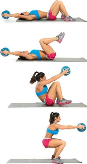 Exercice medecine ball abdo